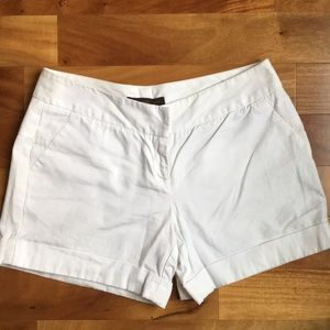 The Limited White Chino Dress Shorts
